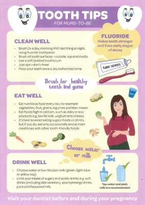 Tooth tips for mums-to-be