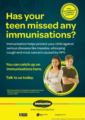 Has your teen missed any immunisations?