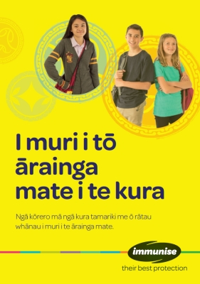 After Your School Immunisation - Te Reo Māori
