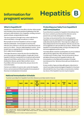 Hepatitis B: Information for Pregnant Women