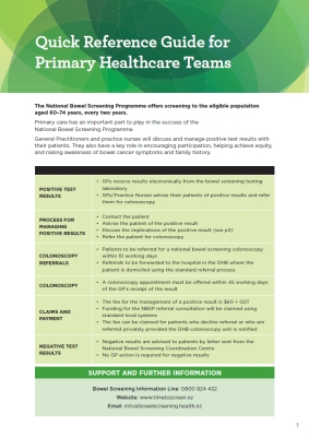 NBSP: Quick Reference Guide for Primary Healthcare Teams
