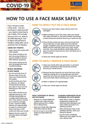 How to use a face mask safely