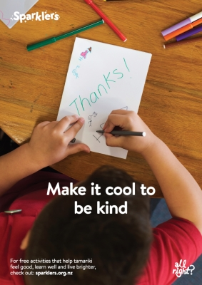Sparklers: Make it cool to be kind
