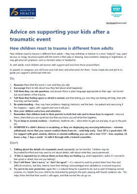 Advice on supporting your kids after a traumatic event