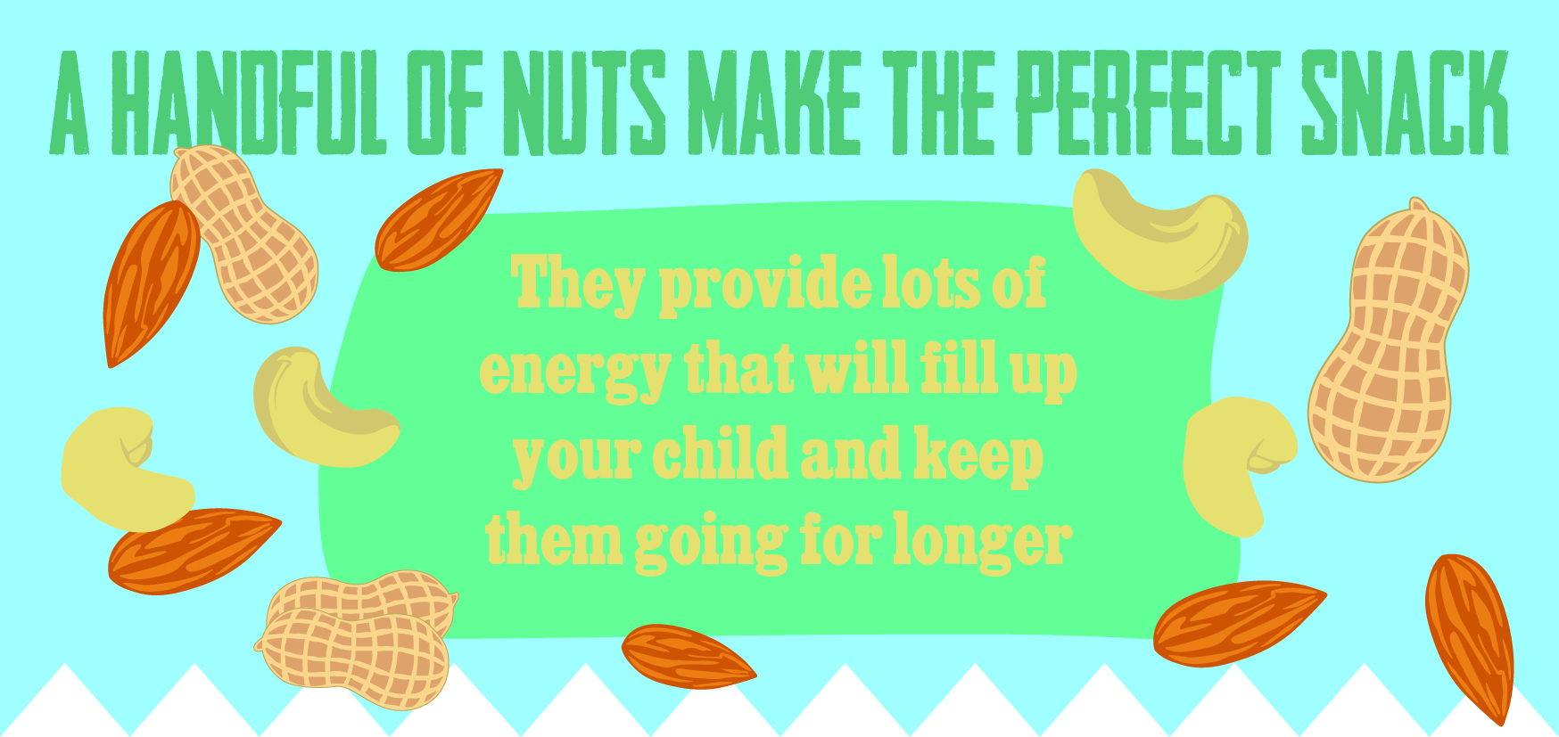 A handful of nuts makes the perfect snack.