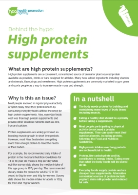 Behind the hype: High protein supplements