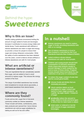 Behind the hype: Sweeteners