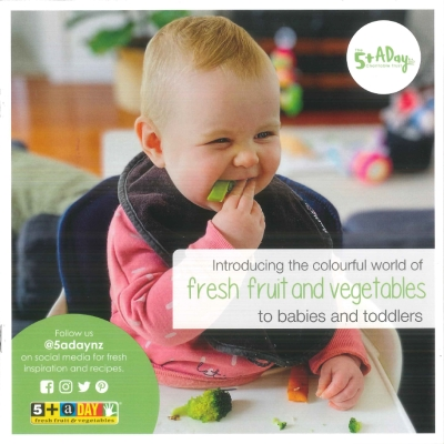 Introducing the colourful world of fresh fruit and vegetables to babies and toddlers