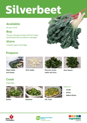 Easy meals with vegetables: Silverbeet