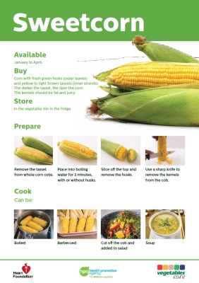 Easy meals with vegetables: Sweetcorn