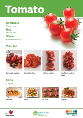 Easy meals with vegetables: Tomato