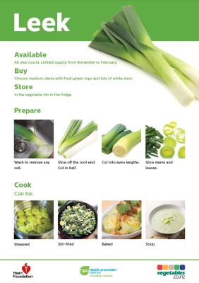 Easy meals with vegetables: Leek