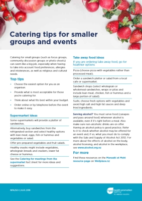 Catering tips for smaller groups and events