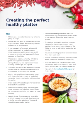 Creating the perfect healthy platter
