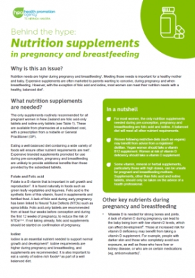 Behind the hype: Nutrition supplements in pregnancy and breastfeeding