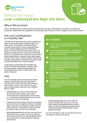 Behind the hype: Low-carbohydrate high-fat diets