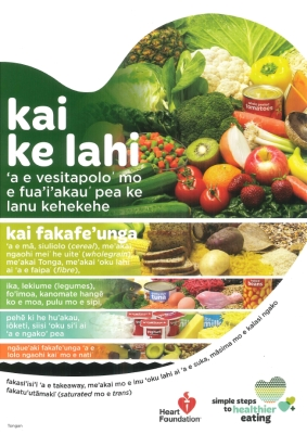Healthy Heart visual food guide - Tongan