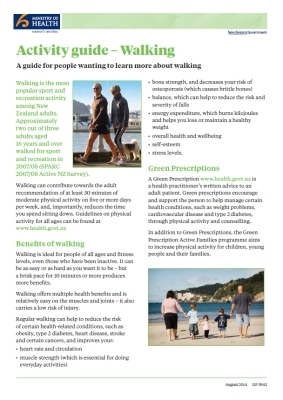 Activity guide: Walking