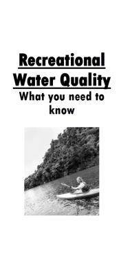Recreational Water Quality: What you need to know