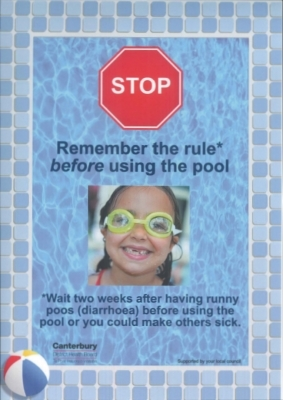 Stop! Remember the rule before using the pool