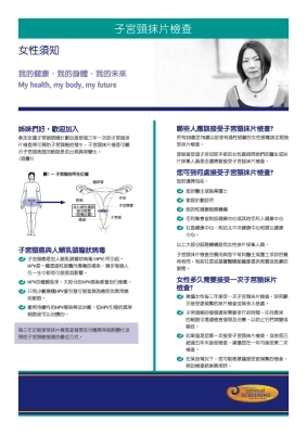 Cervical Smear Tests: What women need to know - Traditional Chinese