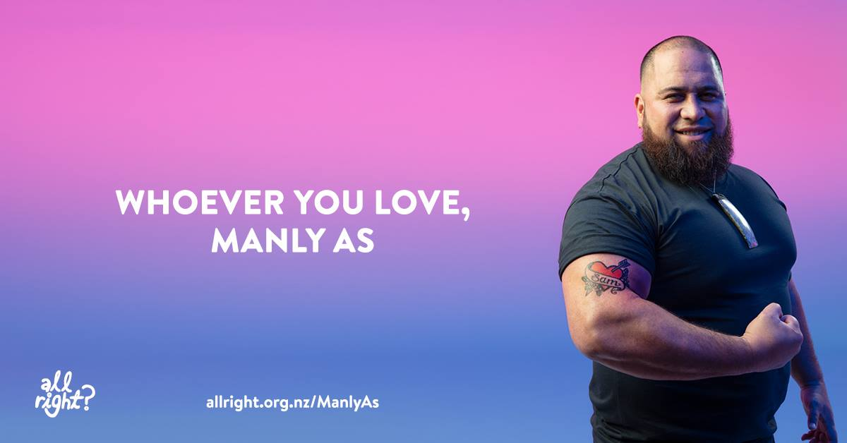 Whoever you love, manly as.