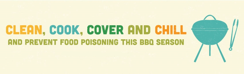Clean, Cook, Cover and Chill and prevent food poisoning this BBQ season.