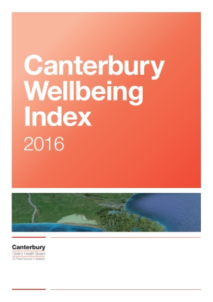Cover of Canterbury Wellbeing Index.