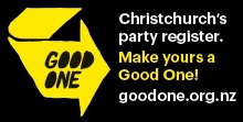 Christchurch's party register. Make yours a good one.