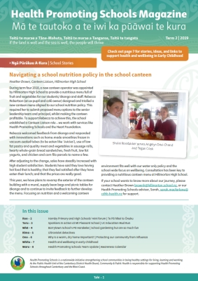 Example of Health Promoting Schools Magazine from Community and Public Health.