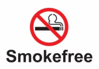 No Smoking symbol with the words Smokefree underneath.