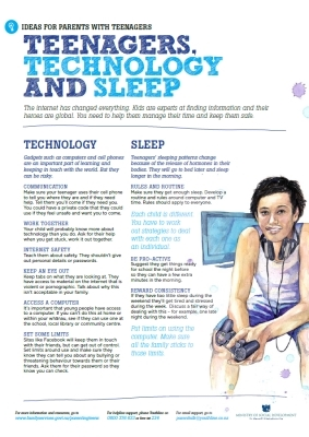 Teenagers, technology and sleep