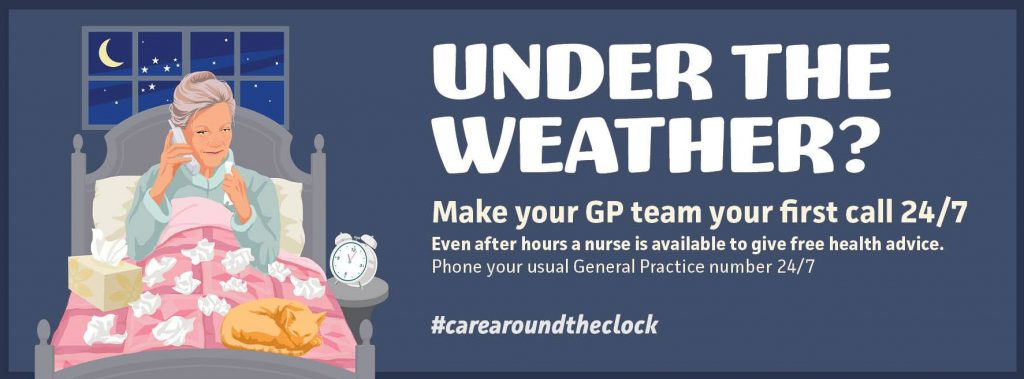 Under the weather? Make your GP team your first call 24/7