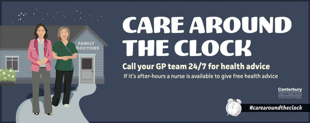 Care around the clock: Call your GP team 24/7 for health advice.