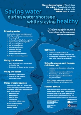 Saving water during water shortage while stay healthy