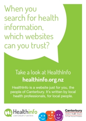 HealthInfo Canterbury: When you search for health information, which website can you trust?