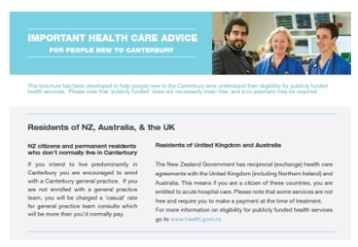 Important Health Care Advice for People New to Canterbury