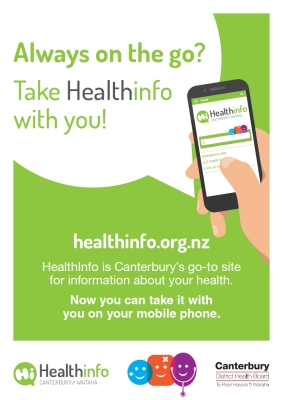 HealthInfo Canterbury: Always on the go?