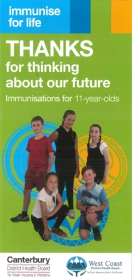 Thanks for thinking about our future: Immunisations for 11-year-olds