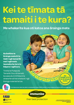 Is your child starting school? - Te Reo Māori