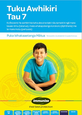Year 7 Immunisation for Tetanus, Diptheria, and Whooping Cough - Te Reo Māori