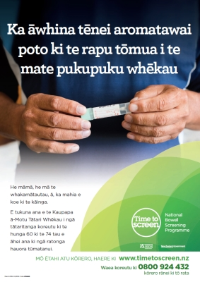 This little test helps find bowel cancer early - Te Reo Māori