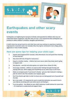 Earthquakes and other scary events