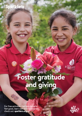 Sparklers: Foster gratitude and giving poster (MNH0214).