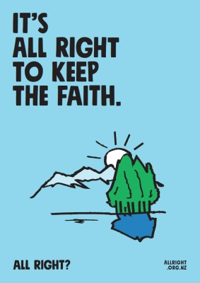 It's all right to keep the faith (MNH0248).