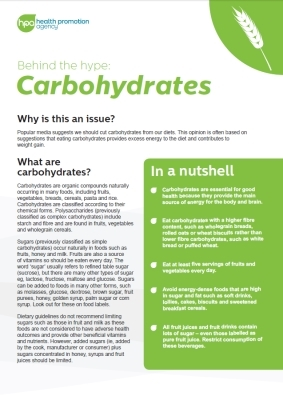 Behind the hype: Carbohydrates