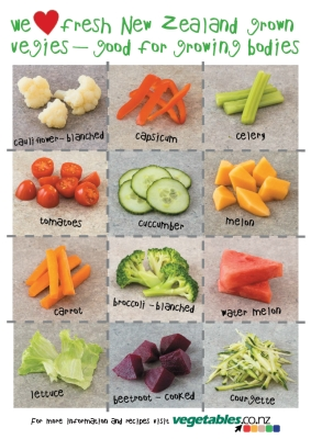We heart fresh New Zealand grown vegies - good for growing bodies
