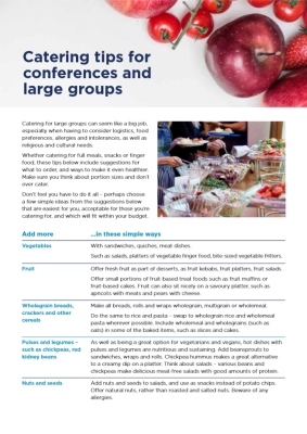 Catering tips for conferences and large groups