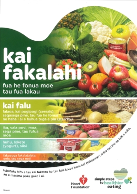 Healthy Heart visual food guide - Niuean