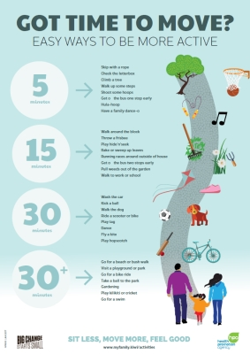 Got time to move? Easy ways to be more active